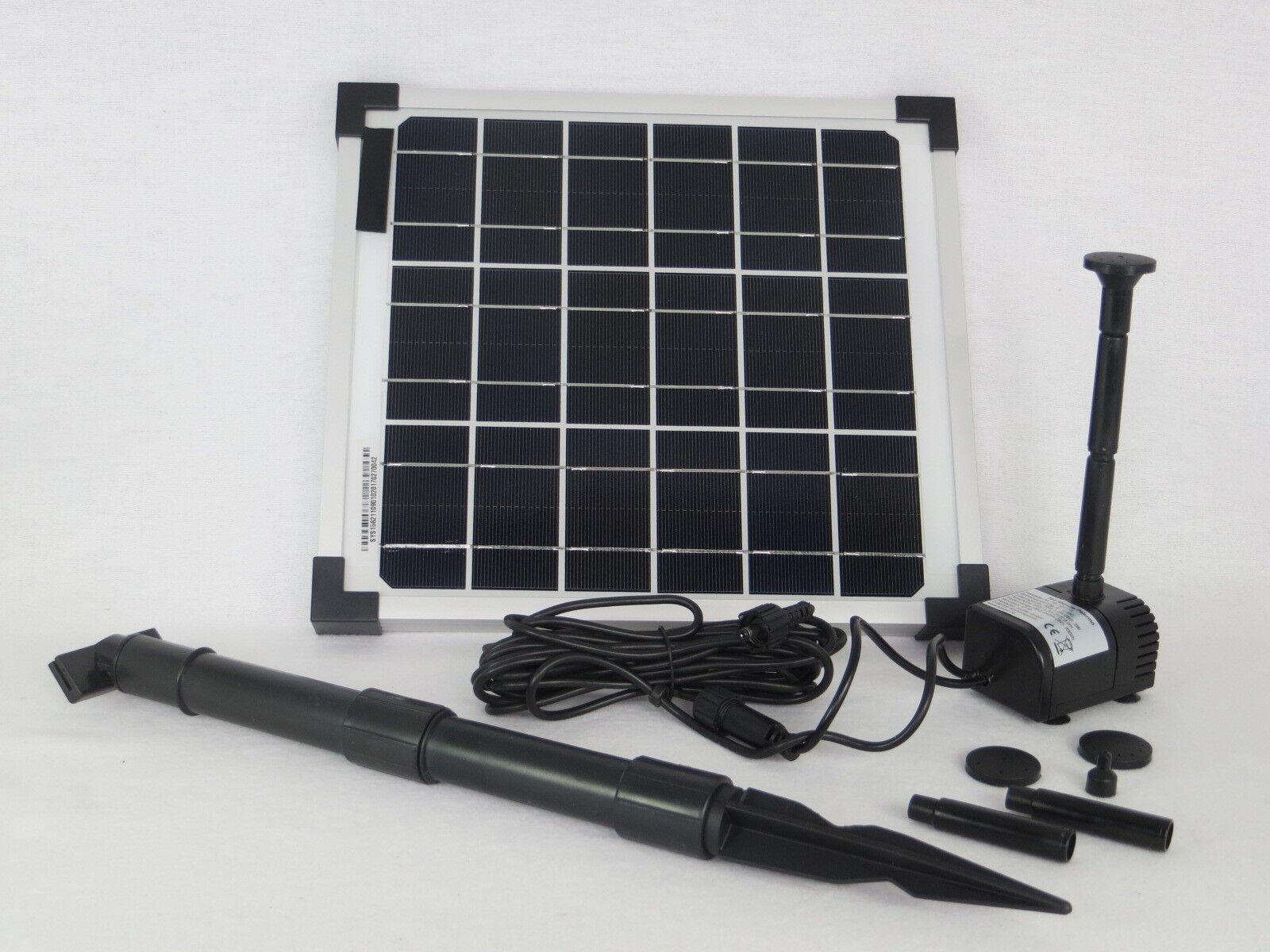 10 Watt Solarpumpe Teichpumpe Solar Tauchpumpe  Pumpenset Gartenteichpumpe Pumpe