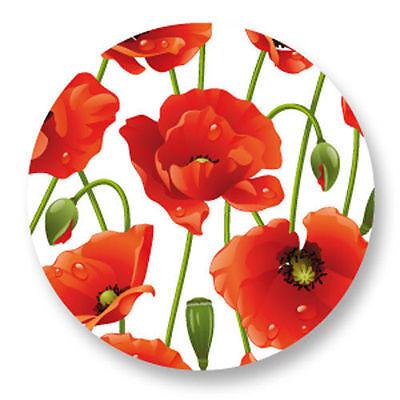 Magnet Aimant Frigo Ø38mm Motif floral Fleur Flower Plante Jardin Botanique