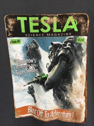 Fallout Loot Crate Tesla Science Magazine Gray T S