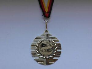 Angeln Pokal Kids Medaillen 50mm mit Deutschland-Bändern Turnier Emblem Pokale Pokale & Preise