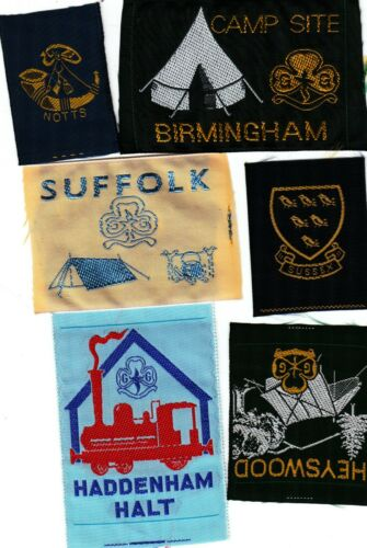 NOTTS HEYSWOOD+SUFFOLK+BIRMINGHAM Ext SUSSEX Girl Guide Badges HADDENHAM