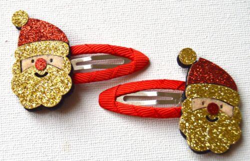 NUOVO Gold Glitter Santa sleepie Capelli Fermaglio Costume Natale Celebrazioni