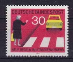 Bund-Mi-Nr-673-I-Regeln-im-Strassenverkehr-1971-postfrisch-MNH