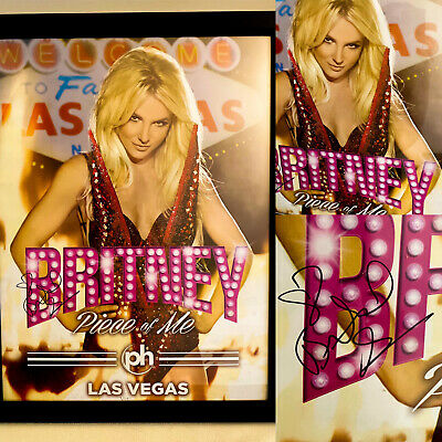 Britney Spears Signed Autographed Piece Of Me Las Vegas Poster Vip Rare Ebay