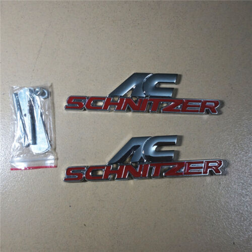 Badge Sticker schnitzer Performance Coupe 3D Racing Red AC Metal Grille Emblem