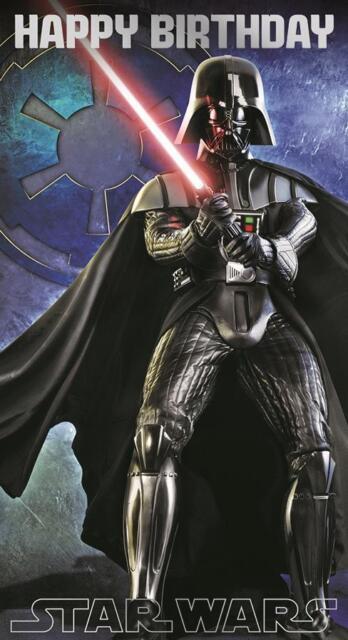 Star wars dark vador joyeux anniversaire repli carte ebay - Bon anniversaire star wars ...