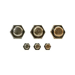 30 Hexagon Fasteners Small Brads For Embellishing Paper Crafts