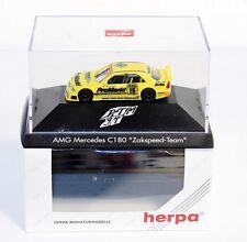 """Herpa 036146, AMG Mercedes C 180 """"Zakspeed Team"""" ,1:87, im Okt        #ab1510"""