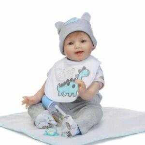 22-039-039-Reborn-Doll-Silicone-Vinyl-Lifelike-Open-Eyes-Cute-Baby-Boy-Toy-Doll