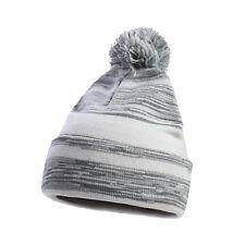 CHICAGO CITY Pom Striped Knit Beanie Cuff Skull Cap