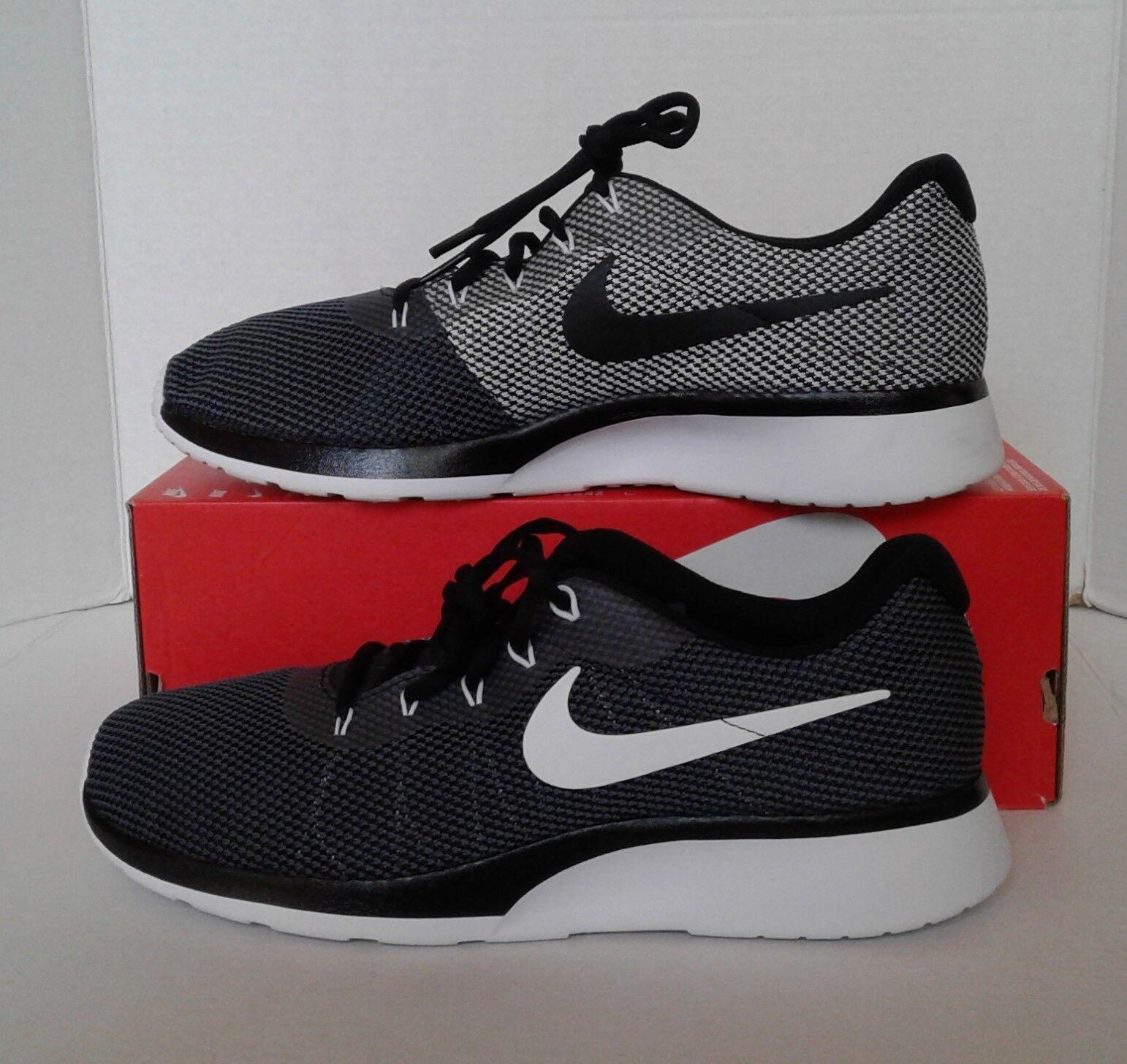 Nueva Nike hombre / Dark Gray / Blanco / hombre Negro Tanjun Racer zapato reducción de precio d42a64