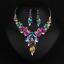 Women-Fashion-Bib-Choker-Chunk-Crystal-Statement-Necklace-Wedding-Jewelry-Set thumbnail 20