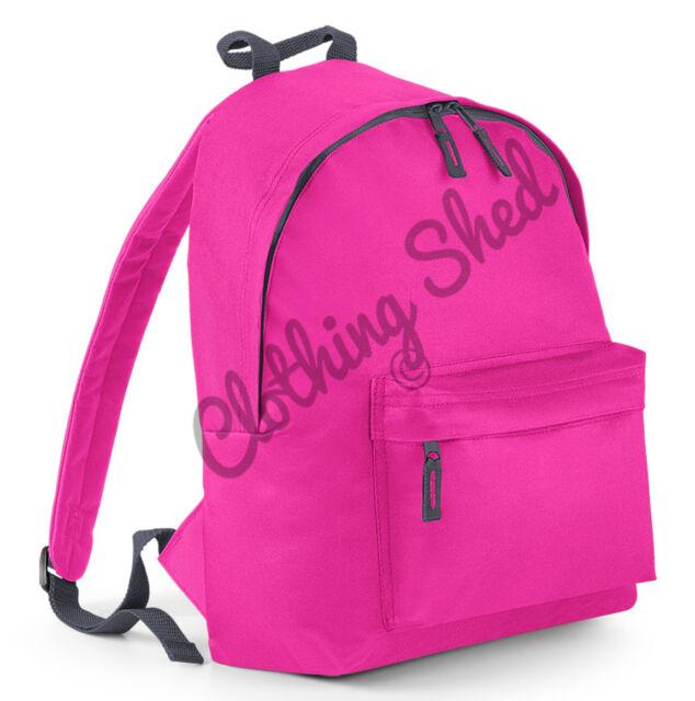 Plain Retro Backpack Mens Womens Boys Bag School Collage Travel Hipster Rucksake