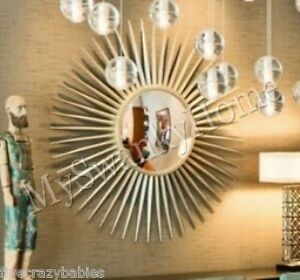 Extra Large 42034 Silver Sunburst Starburst Wall Mirror XL