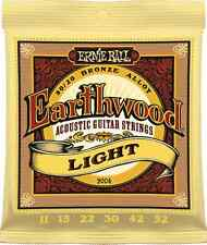 Ernie Ball 2004 Earthwood Acoustic 80/20 bronze Guitar Strings 11-52 lite
