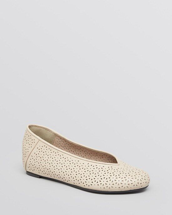 NIB $225 Eileen Fisher 'Patch P' Earth Leather Slip-On Ballet Flats Size 10 LAST