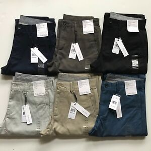 NWT-Calvin-Klein-Men-039-s-Straight-Fit-Chino-Pants-All-Sizes-5-pocket-100-Cotton
