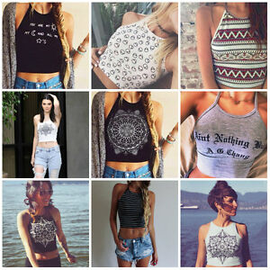f2e20024 Image is loading Sexy-Women-Sleeveless-Crop-Tops-Vest-Backless-Halter-