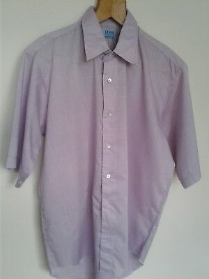 Vintage Le Roi Shirt Rosa Lilla 16 1/2 Collare Made In England-
