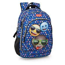 EMOJI OFFICIAL Blue Premium Laptop Compartment Backpack Rucksack 3 Zip 3 Friends