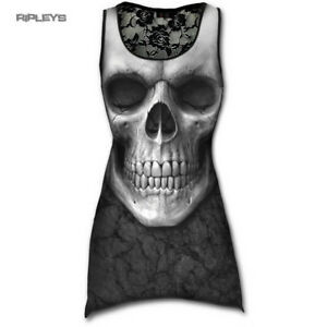 SPIRAL-DIRECT-Ladies-Black-Goth-SOLEMN-SKULL-Lace-Vest-Top-All-Sizes