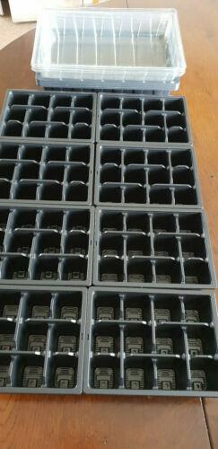 Coperchio Trasparente 24 cellule KIT Propagatore Seed con Coperchi 2 x 12 Cella Inserti Vassoio HD