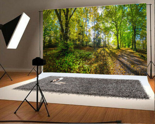 7X5FT VINYL GREEN FOREST IS FRESH BACKGROUND PHOTOGRAPHY BACKDROP STUDIO PROPS