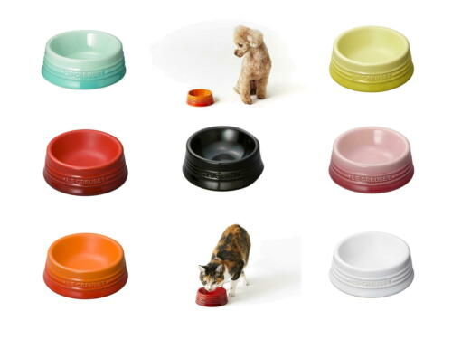NEW Le Creuset Plate for Pet food Dog//Cat Bowl Dish S Small Size Multi-Color JP
