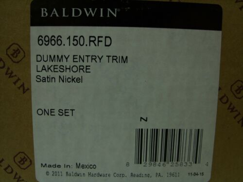 Baldwin Lakeshore Dummy Entrance Trim Square Lever Interior 6966.150.RFD NEW
