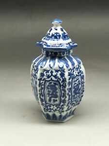 Chinese-old-blue-and-white-porcelain-Draw-dragon-vase-W-qianlong-mark