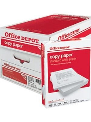 1 BOX 5 REAMS  4 HOLE PUNCHED A4 PAPER 80 GSM FREE 24H STAPLES 2500 SHEETS