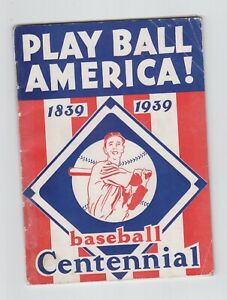 1939 Play Ball America! Centennial Booklet 42 Pages