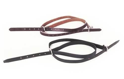 Windsor Equestrian Leather Spur Straps Havana Brown Or Black Hunting Showing