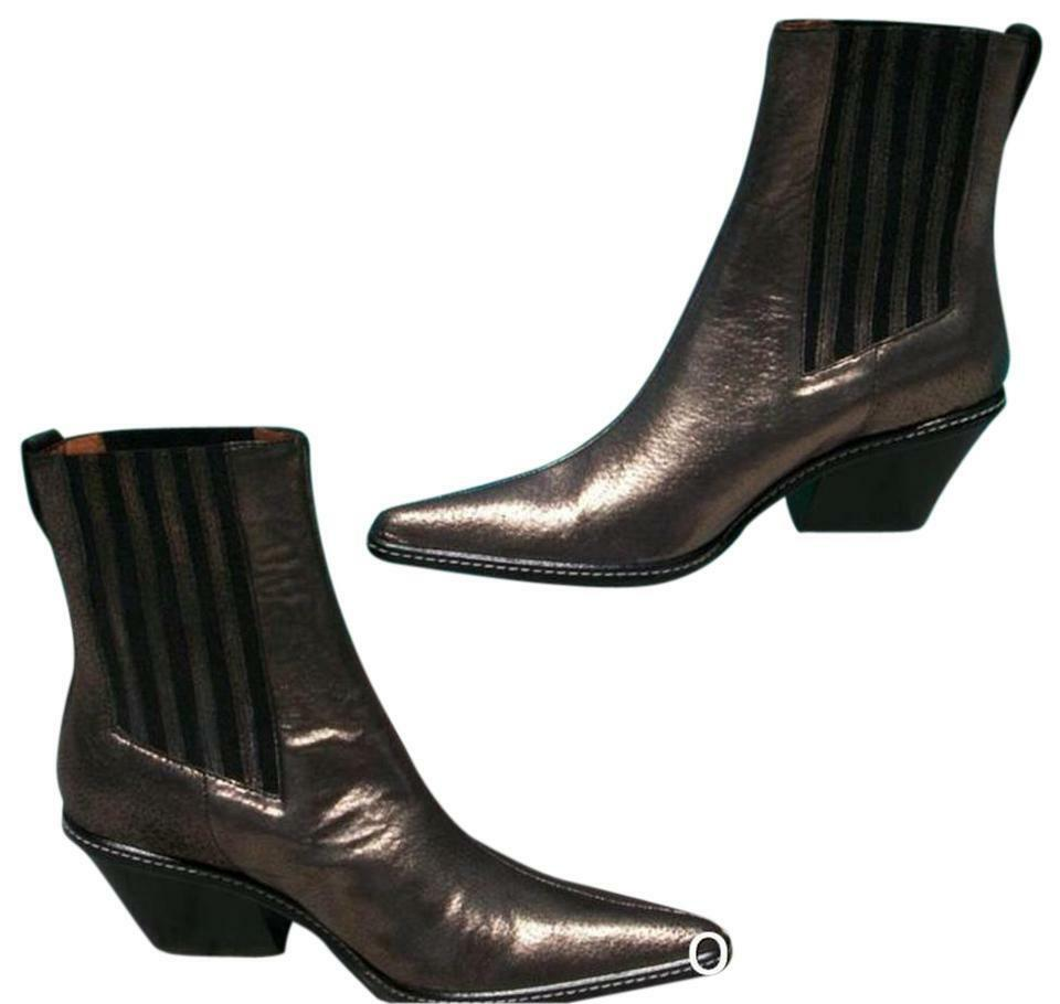 Donald Pliner Western Couture Metallic Pig Leather Leather Leather Boot shoes New Goring  625 NIB 2bd2af