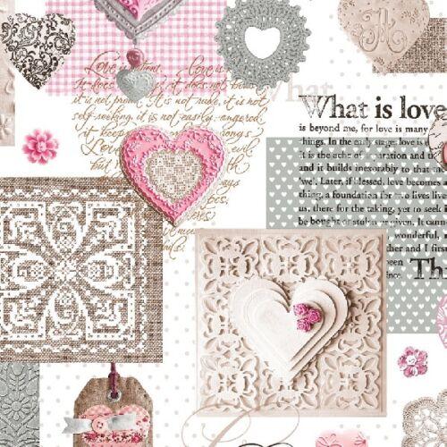 Toile Cirée Nappe au mètre What is love pink c146061 rectangulaire environ ovale