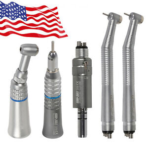 Dental-High-Low-Speed-Handpiece-Kit-Push-Button-2-Turbine-Contra-Straight-Motor