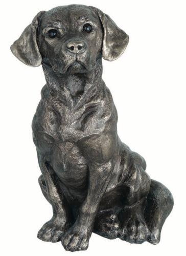 MAN/'S BEST FRIEND Genesis Fine Arts Young Labrador Dog Statue Bronze Sculpture