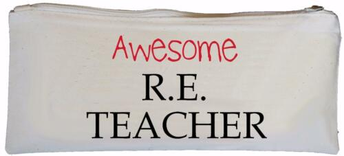 Teacher Canvas Pencil Case Awesome R.E SUPPLIED EMPTY School gift