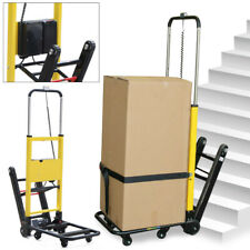 Electric Folding Stair Climbing Hand Truck 6 Wheels Warehouse Cart Dolly 440lb