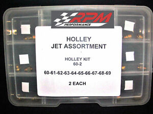 Holley Carburetor JET ASSORTMENT KIT 60 to 69 2 EACH 1//4-32 GAS MAIN 20PACK 60-2