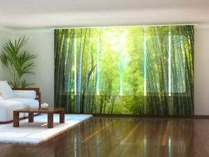 Fotogardinen Bambus nach Maß Schiebegardinen Fotodruck Flächenvorhang