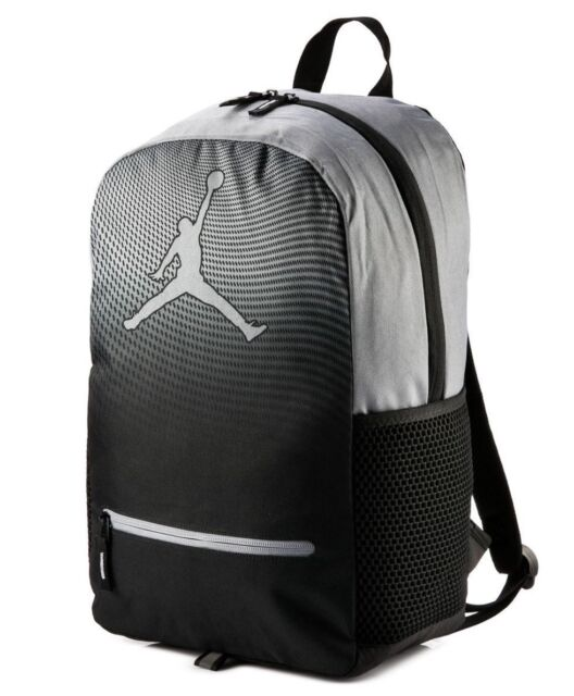 9da4676c4ec NIKE JORDAN JUMPMAN YOUTH DAYBREAKER BACKPACK BLACK GRAY Laptop 9A1836 K26  NEW