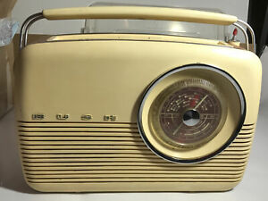 Vintage Transistor Radio c. 1963 Bush VTR103 Portable UK 9 v Battery FM MW LW
