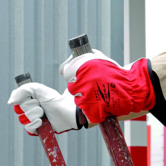 Cofra Handschuh Mod. Snug Lederhandschuhe Montagehandschuh Bau Handwerk Logistik