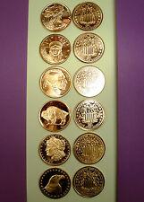 6-1 oz 999 Fn Copper Bullion Rds-w/Clr hldrs *Assorted Var Designs*!-Nice Gifts!