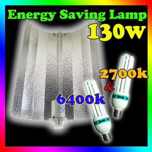 2700k 6400k Hydroponics Grow Lights 130w Cfl Amp Bat Wing