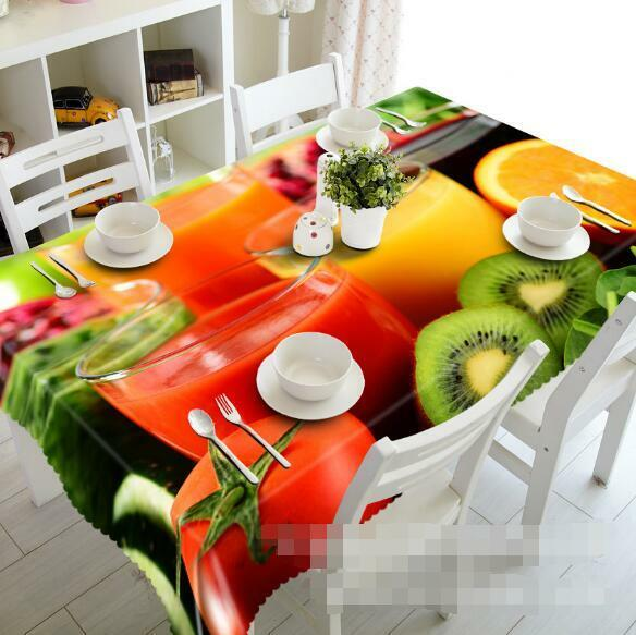 3D Fruit Juice 42 Tablecloth Table Cover Cloth Birthday Party Event AJ WALLPAPER
