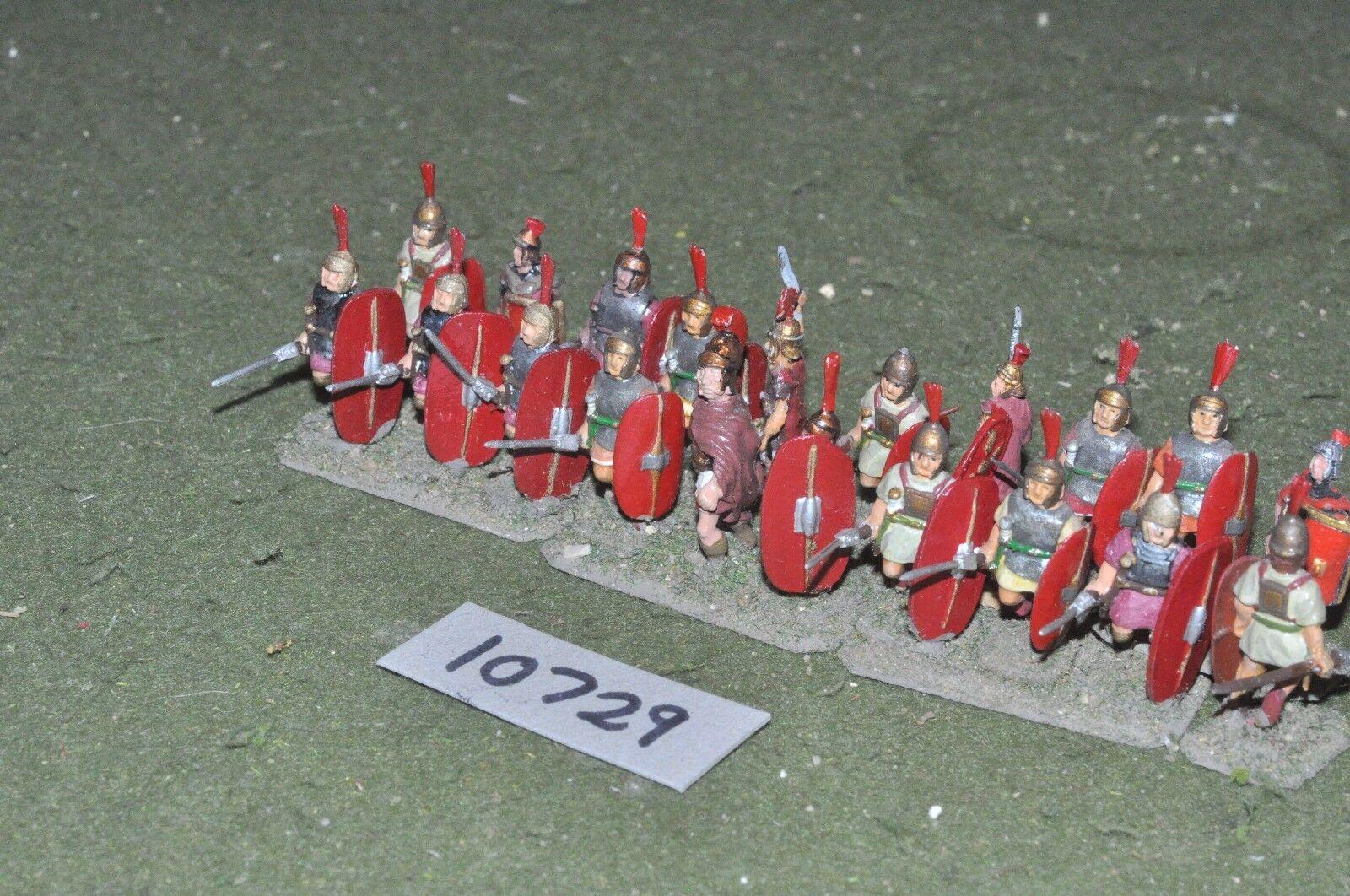 25mm roman era   roman - legionaries 20 figs - inf (10729)