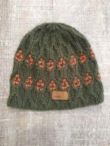 c092cca040 Image is loading Coal-Knit-Beanie-Hat-Winter-Warm-Green-Orange