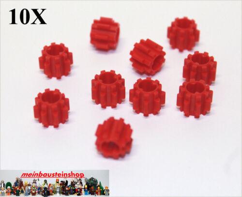 10X Lego ® 11955 Technic Gearbox Gears 8 Teeth Gear Red New